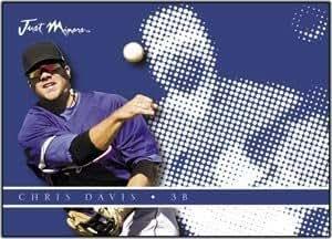 2008 Just Autographs 09 Preview #4 Chris Davis - TEX (3B) MLB Baseball Trading Card