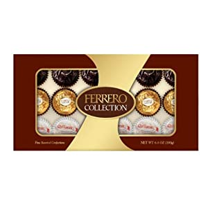 Ferrero Collection Rondnoir with Hazelnut Center Chocolate Collection 18 Piece Gift Box, 6.8 oz