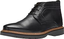 Clarks Men\'s Newkirk Top Black Leather Boot 15 D (M)