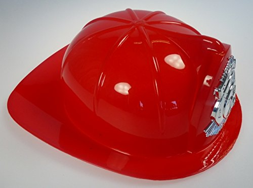 Roter Kinder Feuerwehrhelm, Amerikanische Art, mit Abzeichen, Feuerwehr, Feuerwehr Helm, Helm, Karneval, Fasching
