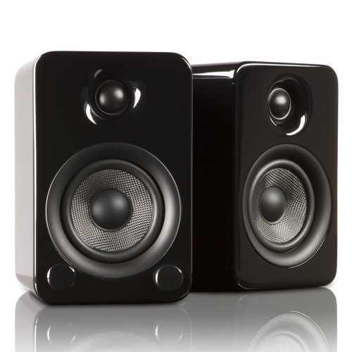 Kanto Yu3Gb Powered Bookshelf Speakers (Gloss Black)