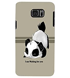 PRINTSWAG PANDA WITH SLOGAN Designer Back Cover Case for SAMSUNG GALAXY NOTE 5 EDGE