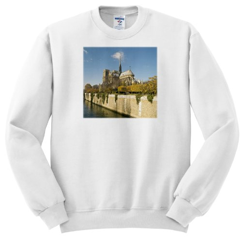 Notre Dame Cathedral, Paris, France - Eu09 Dbn0542 - David Barnes - Adult Sweatshirt Large
