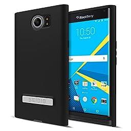 Seidio® SURFACE with Metal Kickstand Case for the BlackBerry Priv [New Design] [Slim & Sleek] - Black