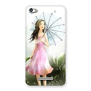 Delighted Umbrella Princess Multicolor Back Case Cover for Micromax Hue 2