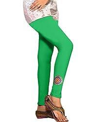 1 stop fashion Green Cotton Lycra-4 Way Leggings