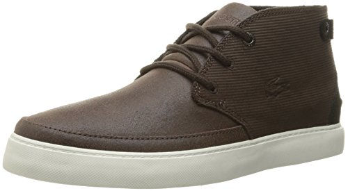 Lacoste Men's Clavel M 316 1 Cam Boot Fashion Sneaker, Dark Brown, 12 M US