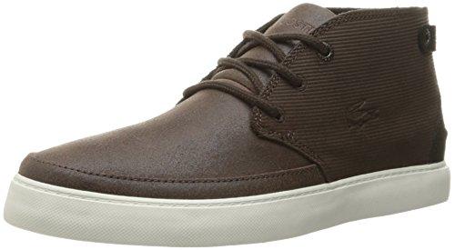 Lacoste Men's Clavel M 316 1 Cam Boot Fashion Sneaker, Dark Brown, 12 M US