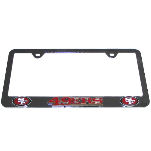 NFL San Francisco 49ers Tag Frame (Forty Niner License Plate Frame compare prices)