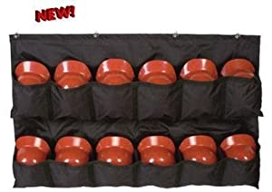 Buy Baseball Softball Helmet Rack Travelling Dugout Bag with Fence Hooks (12 Mesh Youth... by Fieldhouse Authentic Sports Shop