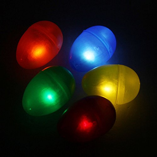 イースターエッグ 8cm LEDライト付き 夜/暗闇のエッグハントイベント対応用