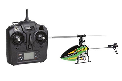 XciteRC-13002100-Ferngesteuerter-RC-Hubschrauber-Flybarless-200-Trainer-RTF-24-GHz-mit-4Si-4-Kanal-Sender-gelbgrn