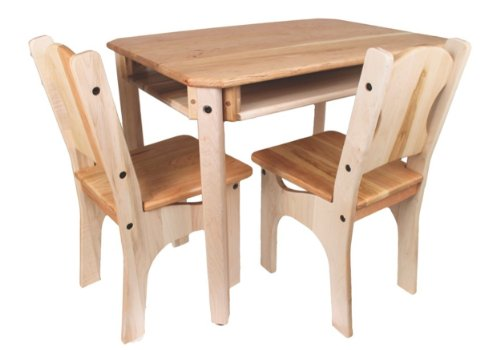 Camden Rose Child'S Cherry & Maple Wood Table And 2 Chairs, Usa Made front-202855