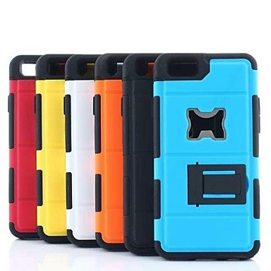 QHY Samsung S4 I9500 compatible Special Design Plastic/Silicone Back Cover/Bumper/Cases with Stand (Assorted Colors) , Yellow Coupon 2016
