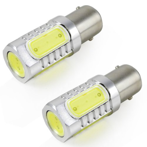 2pz MENGS® Auto Luce LED 7.5W 1157/BAY15D LED COB Lampadina LED (Bianco freddo 6000K, 360 angolo, DC 10-30V, 16 x 48mm) Lampadine a risparmio energetico