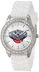 Game Time Ladies NBA-FRO-NO Frost NBA Series New Orleans Hornets 3-Hand Analog Watch by Game Time