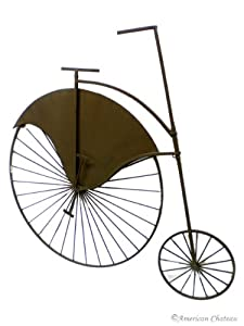 NEW Retro Vintage Wrought DECORATIVE Iron METAL Bicycle HANGING Wall Art Decor