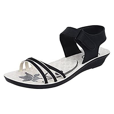 Bersache Women Black-815 Fashion Sandals.
