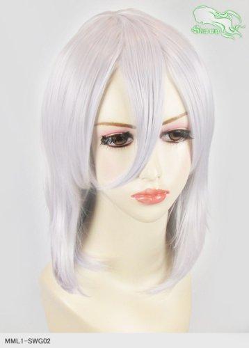 スキップウィッグ 魅せる シャープ 小顔に特化したコスプレアレンジウィッグ フェザーミディ ホワイトキャンディ