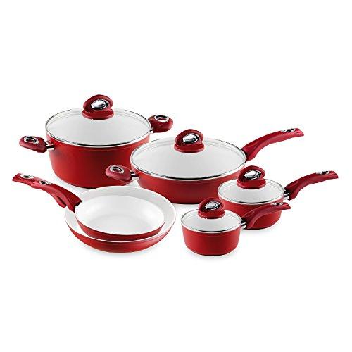Bialetti Aeternum Red 7272 10 Piece Cookware Set (Bialetti Aeternum 10 Piece compare prices)