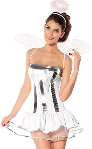 [Anmengte Halloween Masquerade Party Cosplay Costume Angel Evil Devil (One size, LC8152)] (Homemade Reindeer Costumes For Kids)