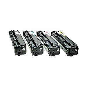 Set Toner für HP CF 210X 211A 212A 213A 1x BK,C,M,Y-BK 2.400 S.,Color je 1.800 S.,kompatibel zu 131A/X