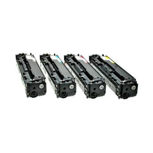 4 Toner für HP CF 210X 211A 212A 213A – 131A/X – Schwarz 2400 Seiten, Color je 1800 Seiten