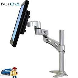 Neo-Flex Extend LCD Arm (Silver) and Free 6 Feet Netcna HDMI Cable - By NETCNA