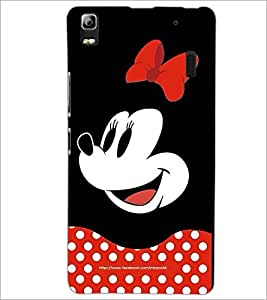 PrintDhaba Minnie Mouse D-2438 Back Case Cover for LENOVO A7000 PLUS (Multi-Coloured)