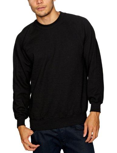 Fruit of the Loom 2 Pack Raglan Men's Sweatshirt Black Large
