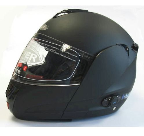 RS-V131 Matt Black Bluetooth Motorcycle Helmet Size Large