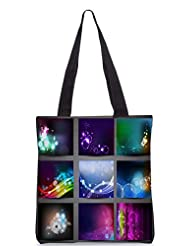 Snoogg Creative Abstract Background Set Designer Poly Canvas Tote Bag