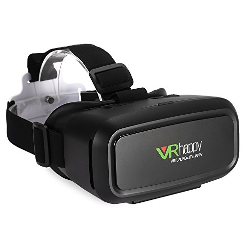 "3D VR Glasses / FJOY VR Headset Virtual Reality Boxes with Stereo Headphone for Video And Games Compatible with All 3.5""-5.5"" Smartphones with IOS / Android and Other Cellphones Black"