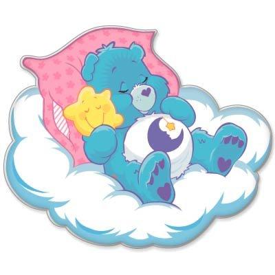 "Care Bears Bedtime Bear Kids Vynil Car Sticker 4"" X 4"" front-699454"