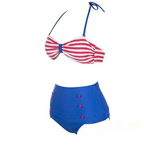 Czj-Innovation Sexy Costumi da bagno Striato Buono Donne Bagnarsi Suits Bikini (Piccolo)
