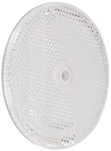 Tapco RT-90 Plastic Centermount Reflector with Plastic Center Hole, 3-1/4″ Diameter x 3/8″ Thick, White