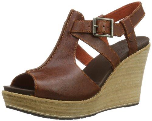 Timberland Women'S Danforth Wedge Sandal,Burnt Orange,7 M Us front-573511