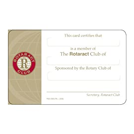 Rotaract Identification Card (Set of 50)