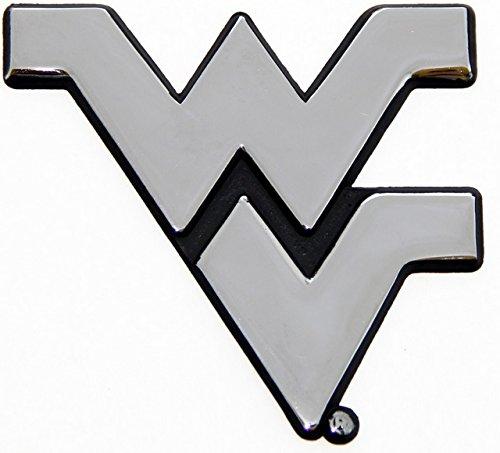 [해외]웨스트 버지니아 대학 등산객 크롬 도금 된 프리미엄 금속 엠 블 럼 자동차 트럭 오토바이 로고/West Virginia University Mountaineers Chrome Plated Premium Metal Em