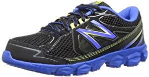 New Balance KJ750 Youth Lace-Up Running Shoe (Little Kid/Big Kid),Black/Blue,2 W US Little Kid
