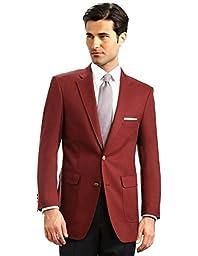 Men\'s Elegant Classic 2 Button Blazer Sport Jacket - Burgundy, 40 Regular