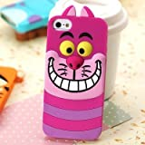 Cute Disney 3D Monster University Animals Soft Silicone Back Case Cover for Apple iPhone 5g 5s - Cheshire cat - With Screen protector + Stylus Pen