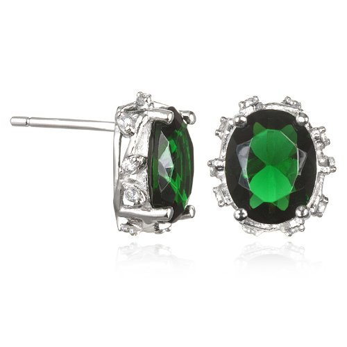 Leaf Gallery Emerald Stud Earring