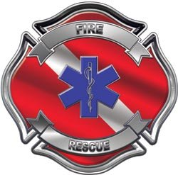Fire Rescue Dive Flag EMS Decal - 3