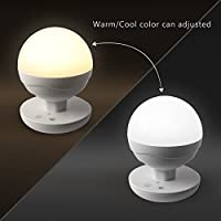 [Upgraded Version]Ascher Children's Dimmable LED Bedside Lamp,Touch Night Light/ LED Baby Night Light /Camping Lantern for home, indoor and outdoor ( Warm white and White light Adjustable, Built-in 2200 mAh Battery) by Ascher