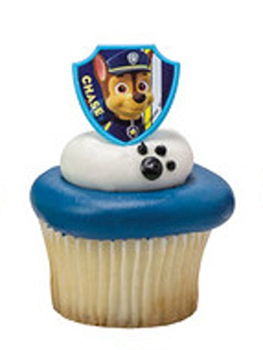 PAW Patrol Ruff Ruff Rescue 12 Cupcake Rings- Chase ONLY - 1