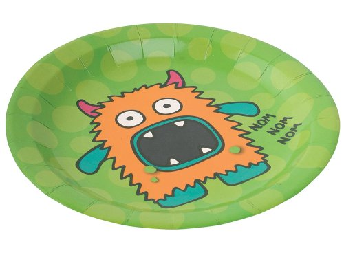 Ginger Ray Decoration Monster Party Paper Plates (8 Pack), Mixed - 1