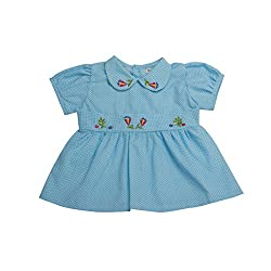 VedVid Soft FabricBeautiful Trendy Dots Frock For New Born