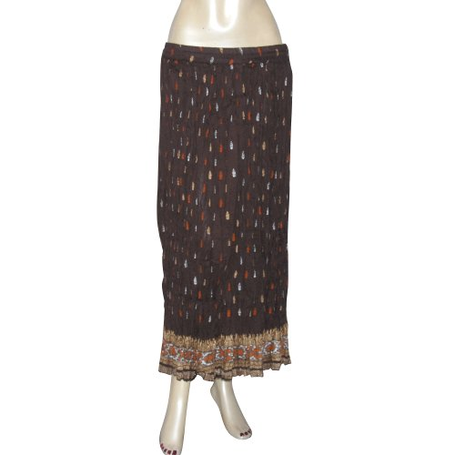 Women's Summer Clothes Casual Wear Cotton Dresses In India (Brown, Size 14)