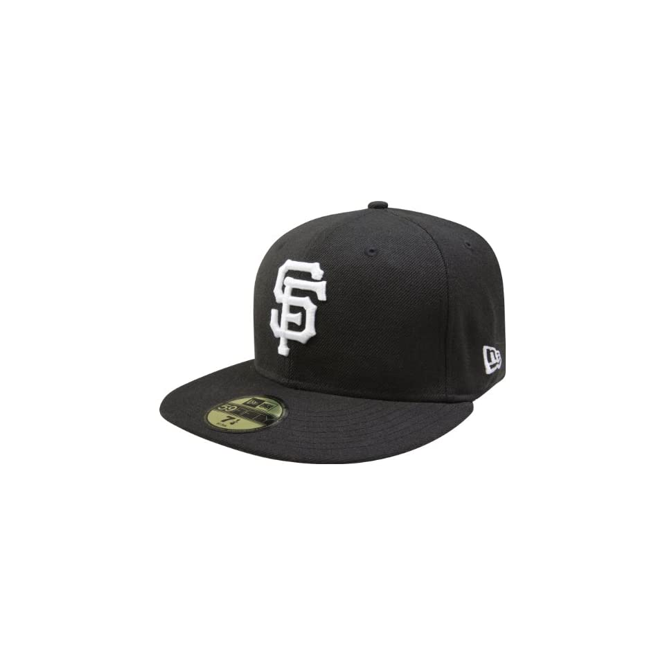MLB San Francisco Giants Black with White 59FIFTY Fitted Cap